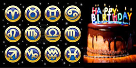 Cumpleaños y horóscopos del mes